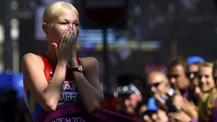 La Russe Alembekova sacrée au 20 km marche (FABRICE COFFRINI / AFP)