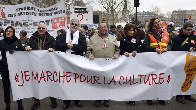 La Marche pour défendre la Culture, à Paris, lundi 10 février 2014.  (Eric Feferberg)