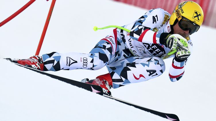Le skieur autrichien Max Franz (ALBERTO PIZZOLI / AFP)