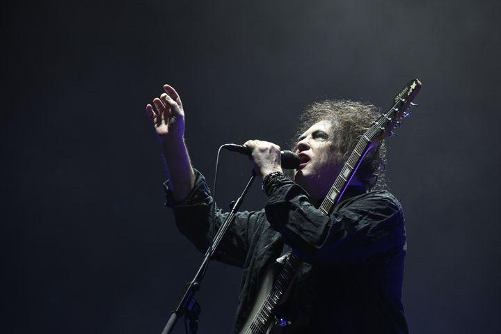 Robert Smith au concert de The Cure le 23 août 2019 à Rock en Seine. (NATHALIE GUYON / FRANCE TELEVISIONS)