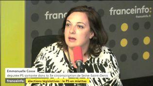 Emmanuelle Cosse,ex-ministre du Logement sur franceinfo, lundi 12 juin 2017. (FRANCEINFO / RADIOFRANCE)