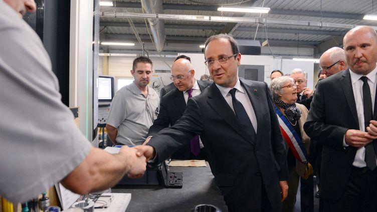 François Hollande, le 4 mars 2013 à Blois (Loire-et-Cher). (ALAIN JOCARD / AFP)