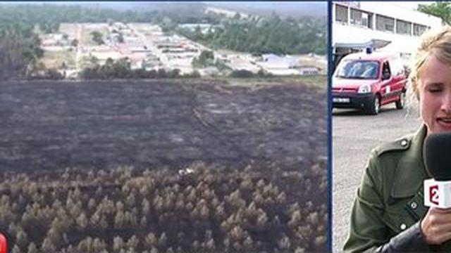 Incendie à Saint-Jean-d'Illac : la situation s'améliore