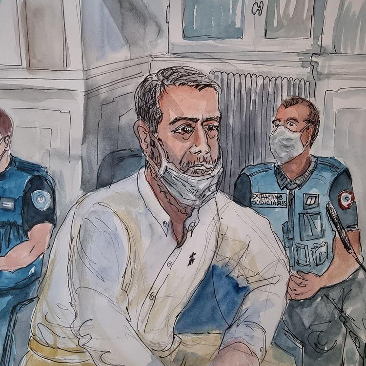 Nordahl Lelandais à la cour d'assises de la Savoie à Chambéry, le 4 mai 2021. (MARIE WILLIAMS / AFP)