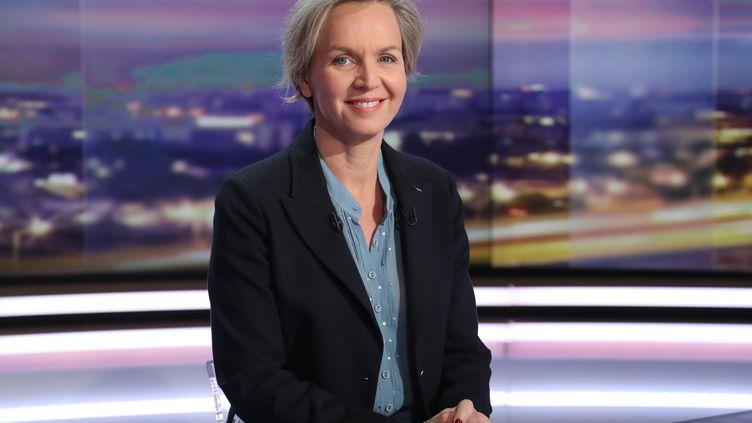 Virginie Calmels, première adjointe au maire de Bordeaux, lors de son passage sur TF1, lundi 18 juin. (JACQUES DEMARTHON / AFP)