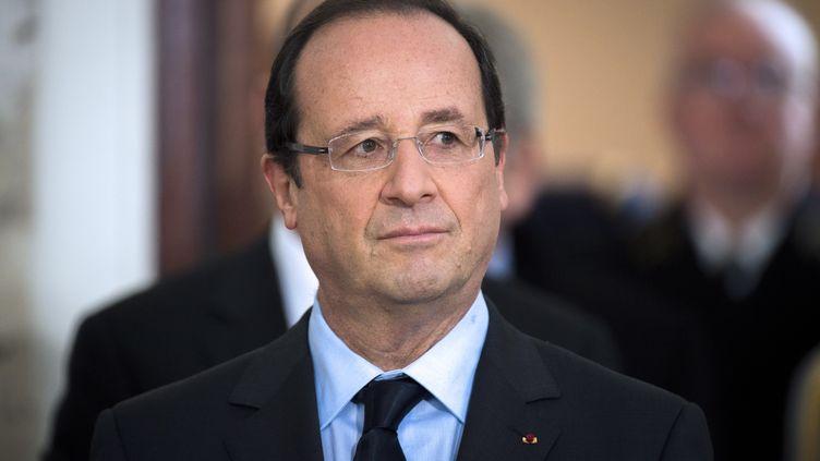 François Hollande, à Paris, le 29 novembre 2012. (FRED DUFOUR / AFP)