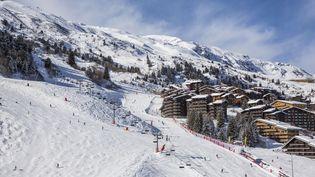 Vue aérienne de la station de Méribel (Savoie), le 6 février 2014. (JACQUES PIERRE / HEMIS.FR / AFP)