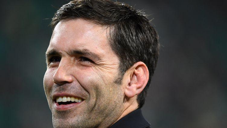 Dimitri Yachvili ancien demi de mêlée du XV de France et consultant rugby pour France Télévisions.  (GABRIEL BOUYS / AFP)