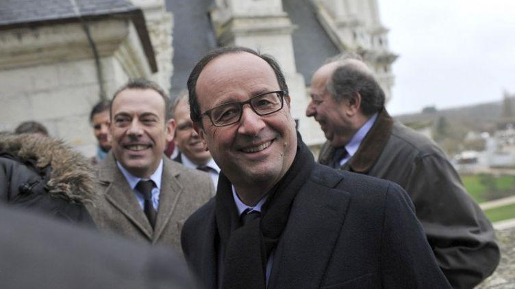 François Hollande en visite au château de Chambord (Loir-et-Cher), le 19 décembre 2014. (GUILLAUME SOUVANT / AFP)