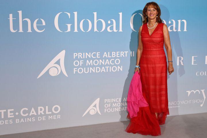 Ségolène Royal au galaGlobal Ocean à Monaco, le 26 septembre 2019. (VALERY HACHE / AFP)