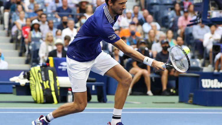 Daniil Medvedev, vainqueur en trois sets de sa demi-finale de l'US Open contre Félix Auger-Aliassime. (ELSA / GETTY IMAGES NORTH AMERICA)