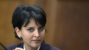 La ministre de l'Education nationale Najat Vallaud-Belkacem, le 8 avril 2015 à Paris. (MIGUEL MEDINA / AFP)