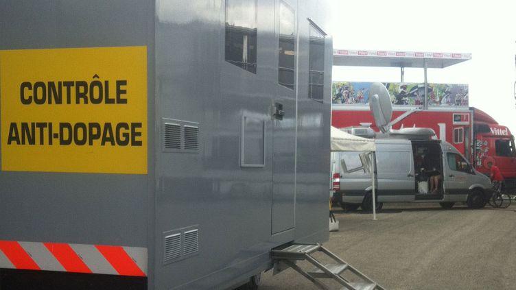 L'espace antidopage sur le Tour de France