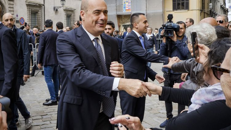 Le chef de file du Parti démocrate, Nicola Zingaretti, le 25 octobre 2019 à Narni (Italie). (JACOPO LANDI / NURPHOTO / AFP)