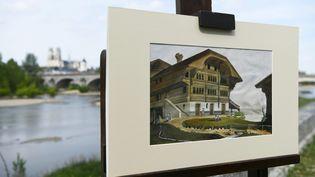 Premier dessin à l'aquarelle daté de 1865 de Paul Gauguin vendu aux enchères 80.000 euros le 16 juin en Indre-et-Loire (PASCAL PROUST / MAXPPP)