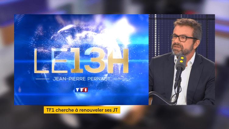 Les JT de TF1 font peau neuve. Thierry Thuillier,directeur général adjoint du pôle information du groupe TF1 détaille le nouveau dispositif mis en place depuis la rentrée. (FRANCEINFO / RADIOFRANCE)