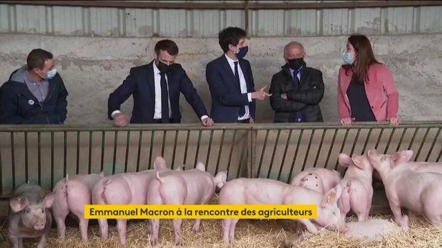 Monde agricole : Emmanuel Macron à la rencontre d'un secteur en difficulté