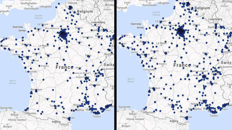 La droite a fait basculer 171 villes lors des élections municipales de 2014. (FRANCETV INFO)