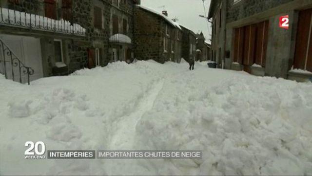 Intempéries : des chutes de neige importantes en Ardèche, Haute-Loire et Lozère