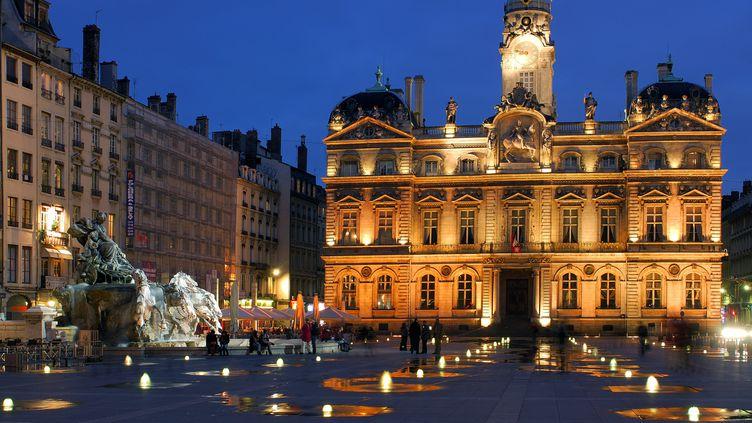 L'hôtel de ville de Lyon, place des Terreaux, en 2011. (MAURICE SUBERVIE / ONLY FRANCE / AFP)