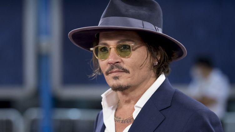 Johnny Depp lors de la 68e édition du San Sebastian International Film Festival, à San Francisco, 2020. (COOLMEDIA / NURPHOTO / AFP)