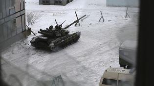 Un char des forces ukrainiennes le 2 février 2017. (ALEXEY FILIPPOV / AFP)