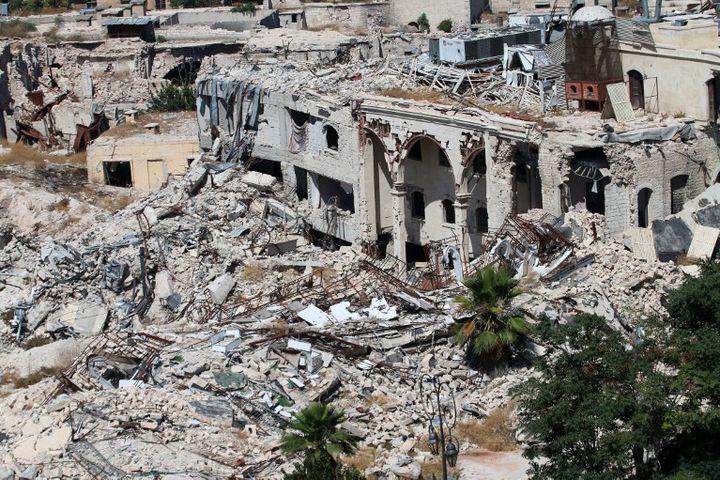Le site classé patrimoine mondial d'Alep détruit (2016)  (GEORGE OURFALIAN / AFP)
