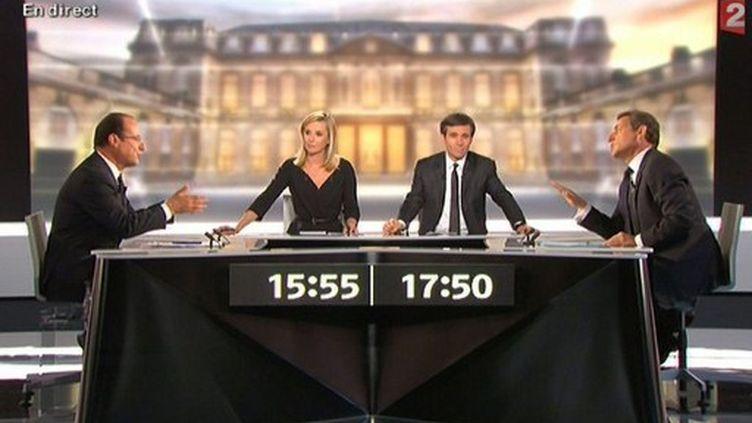 le débat d'entre deux tours Sarkozy-Hollande (2 mai 2012) (- / FRANCE 2 / AFP)