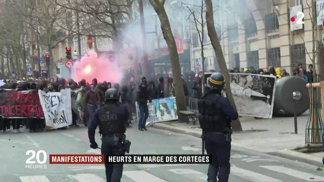 Manifestations : heurts en marge du cortège