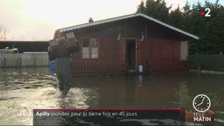 Le village d'Apilly, une nouvelle fois inondé. (France 2)