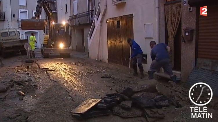 Caputre d'écran du reportage de France 2 à Saint-Pargoire (Hérault), le 30 septembre 2014. ( FRANCE 2)