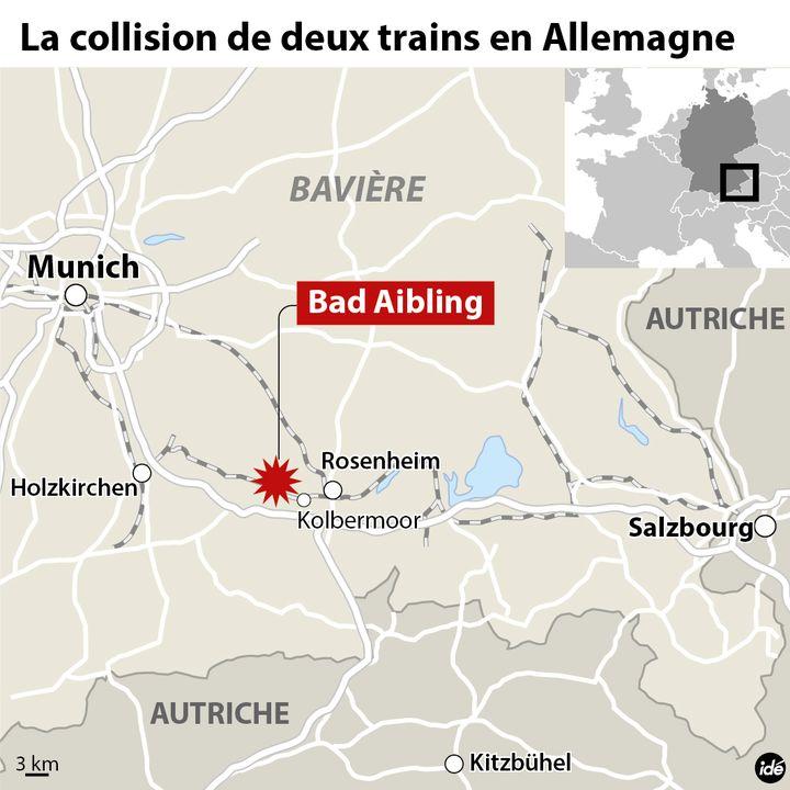 (Collision de deux trains en Allemagne, à Bad Aibling © Idé)