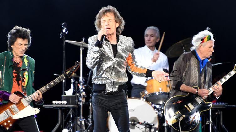 Les Rolling Stones en bonne forme à Hambourg le 9 septembre 2017.  (CARSTEN REHDER / AFP)