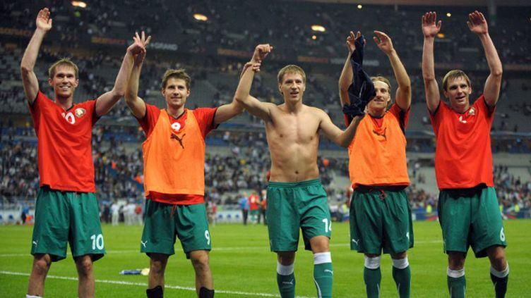La France s'est inclinée (0-1) contre la Biélorussie (BERTRAND LANGLOIS / AFP)