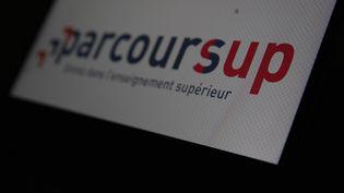 Le logo de laplateformeParcoursup. (ANTOINE WDOWCZYNSKI / HANS LUCAS / AFP)