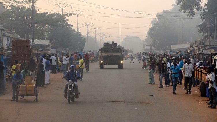 Les soldats français de l'opéation Sangaris en décembre 2014 à Bangui. (PACOME PABANDJI / AFP)