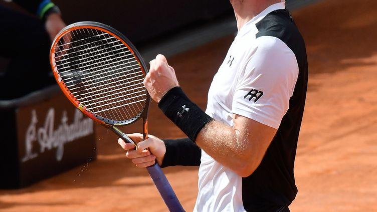 Andy Murray heureux après sa victoire au Masters 1000 de Rome. (CLAUDIO PASQUAZI / ANADOLU AGENCY)