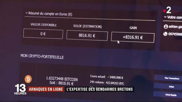 Arnaques en ligne : l'expertise des gendarmes bretons