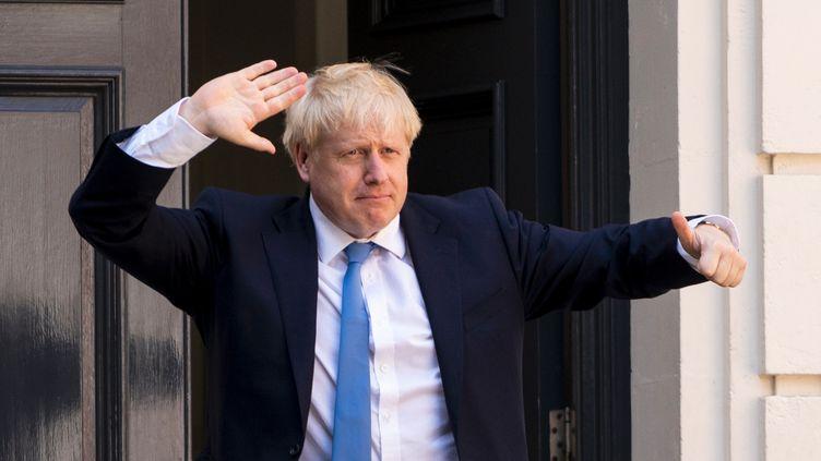 Boris Johnson, à Londres (Grande-Bretagne), le 23 juillet 2019 (NIKLAS HALLE'N / AFP)