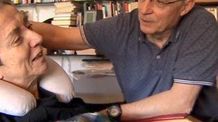 C'était en octobre 2018, en Espagne lors d'un reportage de la TVE. Maria-José Hernandez, atteinte de la sclérose en plaques depuis ses 32 ans, suppliait qu'on l'aide à mourir. (CAPTURE D'ÉCRAN FRANCE 3)