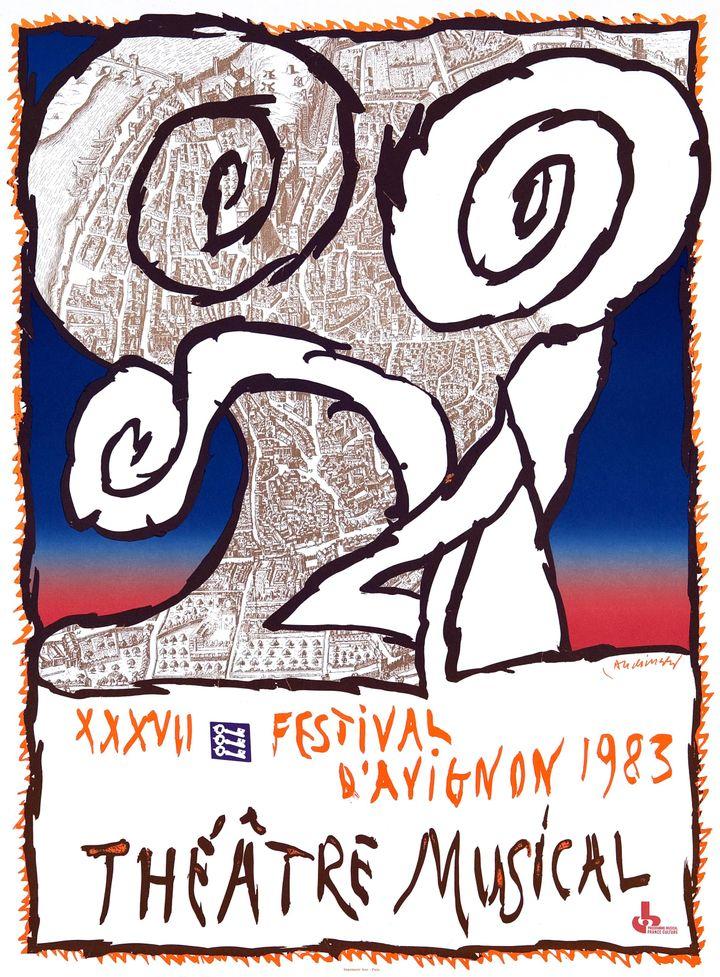 Affiche pour le festival d'Avignon (Michel Nguyen)