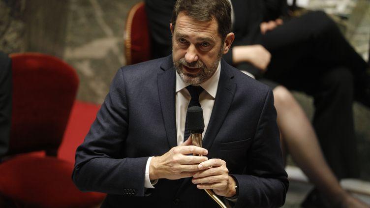 Le ministre de l'Intérieur, Christophe Castaner, le 28 janvier 2020 à l'Assemblée nationale. (GEOFFROY VAN DER HASSELT / AFP)