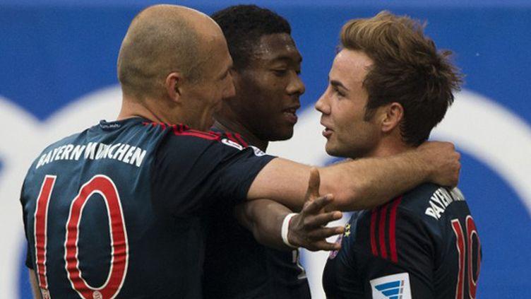Mario Götze a inscrit un triplé contre Hambourg samedi. (JOHN MACDOUGALL / AFP)