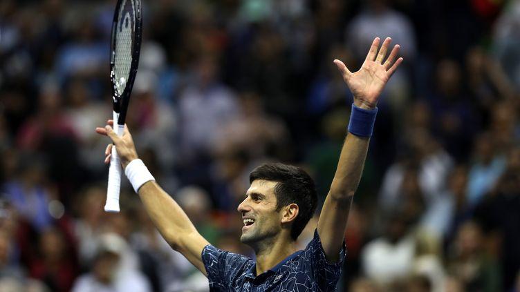 la joie de Novak Djokovic après sa victoire en finale (MATTHEW STOCKMAN / GETTY IMAGES NORTH AMERICA)