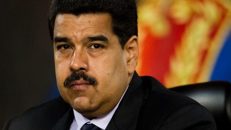 Le président vénézuélien Nicolas Maduro, photographié à Caracas (Venezuela) le 12 avril 2016. (MAXPP)