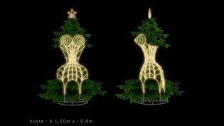 Sapins de Noël des créateurs 2013 : le sapin de Jean Paul Gaultier  (: Jean-Paul Gaultier, réalisation Blachère)