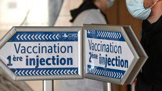Dans un centre de vaccination à l'hôpital de Dunkerque, le 17 février 2021. (DENIS CHARLET / AFP)