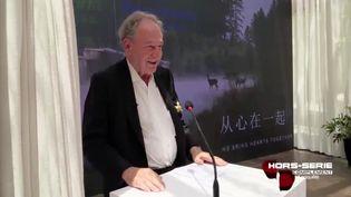 Pierre Brémond (Pierre & Vacances-Center Parcs) en Chine. (FRANCE 2 / FRANCETV INFO)
