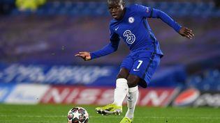 N'Golo Kanté (Chelsea), contre l'Atlético de Madrid, le 17 mars 2021. (BEN STANSALL / AFP)