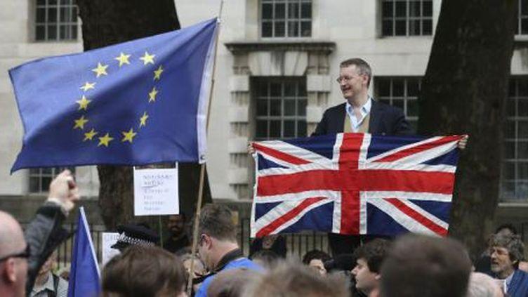 Une manifestation contre le Brexit à Londres. (JUSTIN TALLIS / AFP)